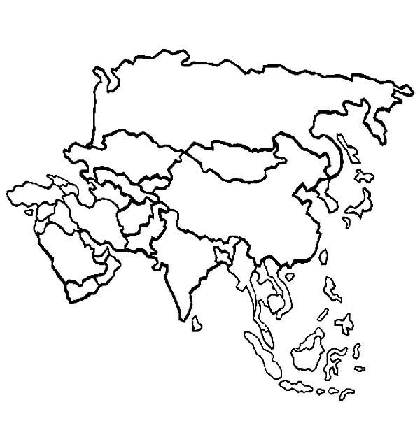 Free Continents Coloring Pages Color In This Picture Of An Asia And Others With Our Library Online Save Them Send