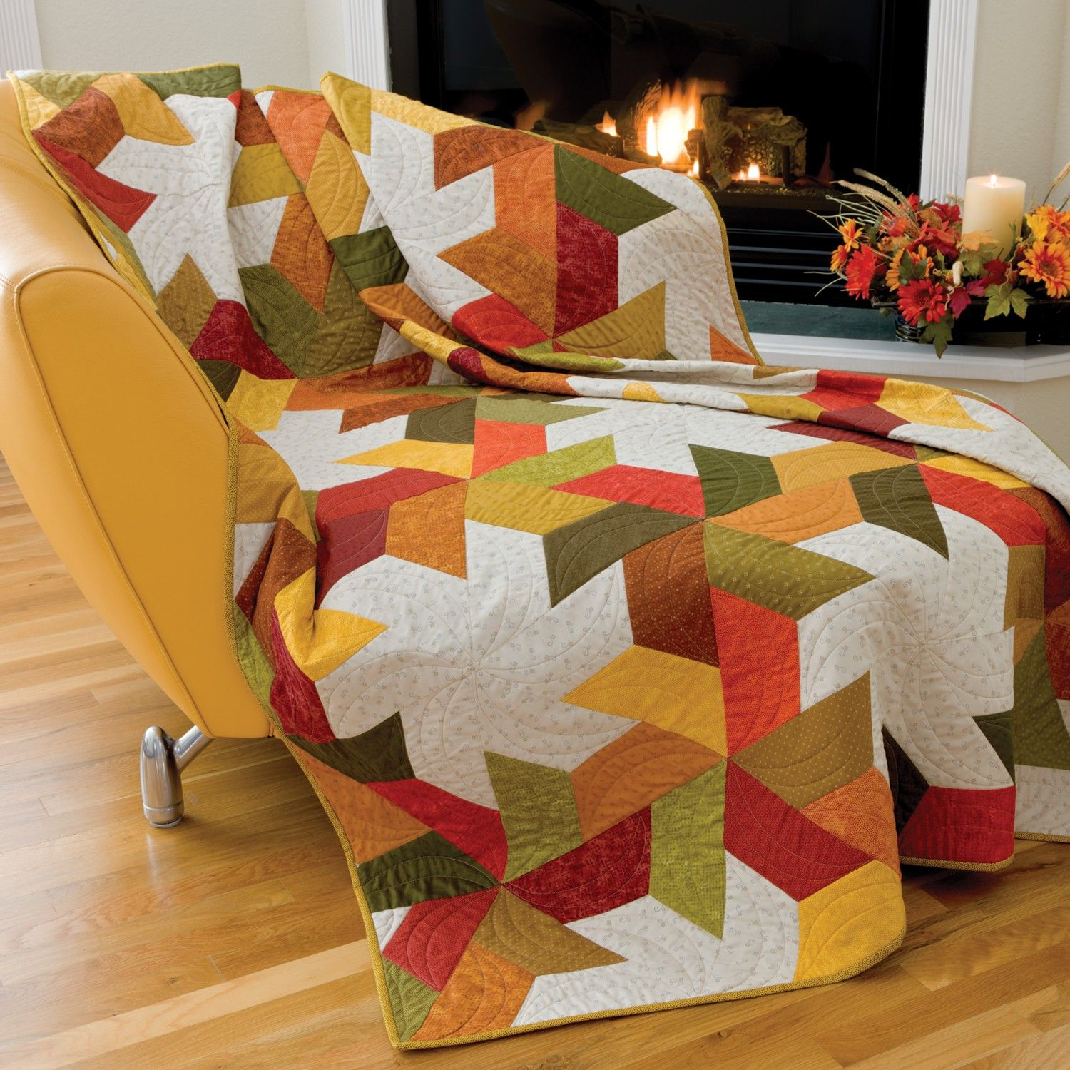 This pattern is included FREE on the packaging of the die GO! Half ... : hexagon star quilt pattern free - Adamdwight.com
