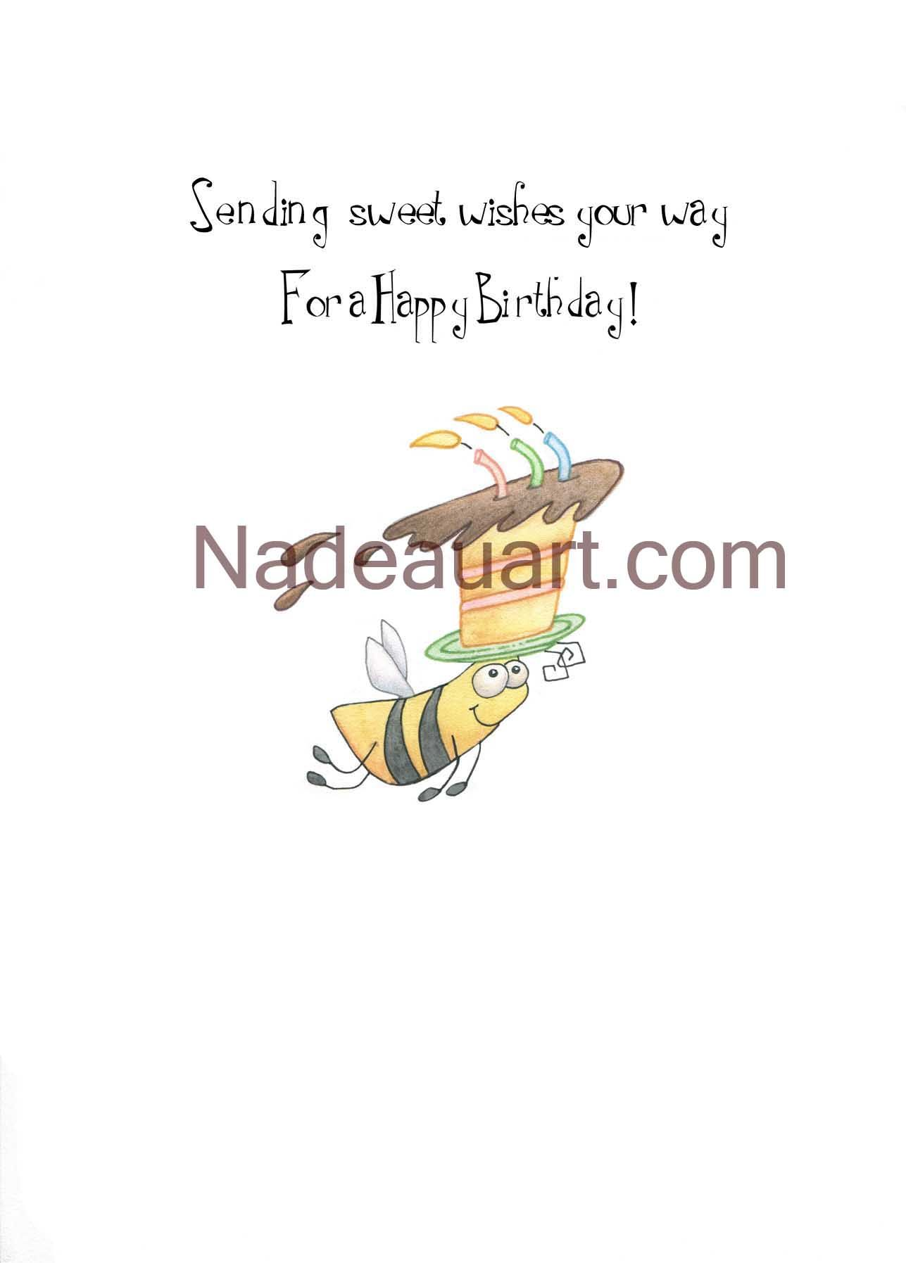 Adorable Bee With A Special Delivery Of Birthday Wishes To That Someone