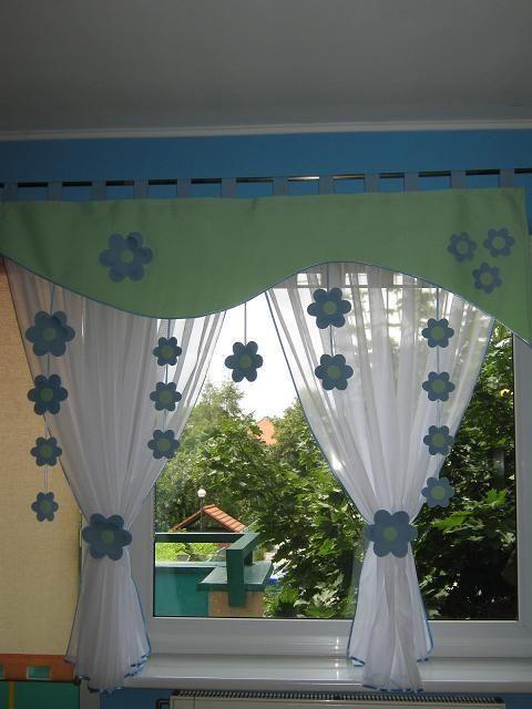 Vorhang Fensterdeko Kinderzimmer Motiv grün 140-180cm Handarbeit ...