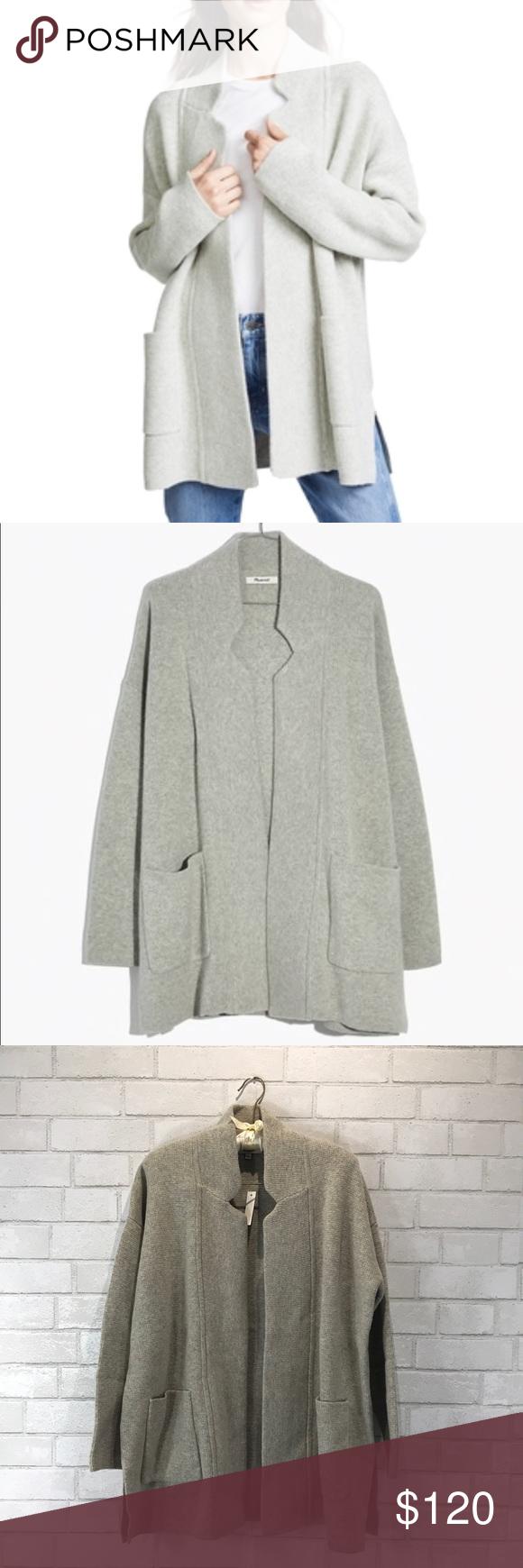 Nwt Madewell Gray Merino Wool Spencer Sweater Coat Nwt My Posh