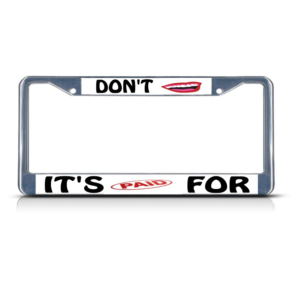 Ho Lee Chit Funny JDM License Plate Frame Auto Car Novelty Accessories License Plate Art