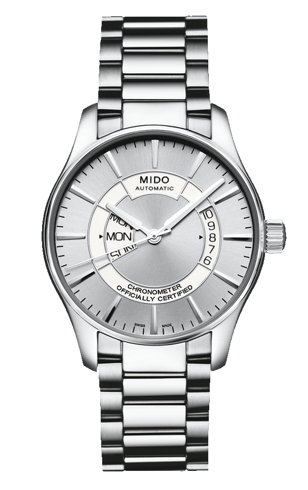 Mido Men s Belluna with gray dial and metal band style    M001.431.11.31.02  www.midowatch.com 555982f7d45