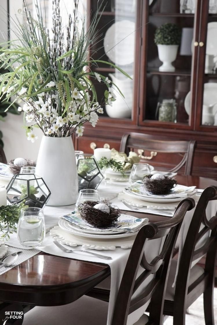 Fabulous Spring Dining Room Table Centerpiece Ideas Dining Room Table Centerpieces Decor Dining Table Decor