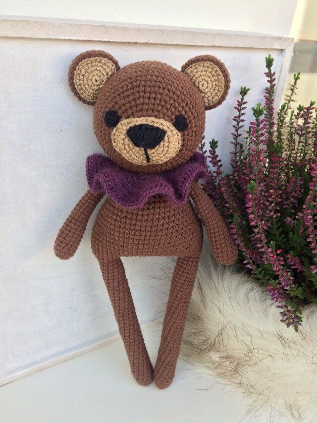 Teddy bear toy for small kids , baby crochet bear #crochetteddybears