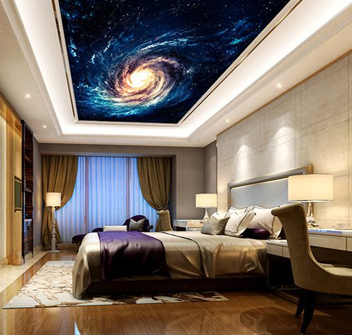 d coration plafond paysage univers galaxie spirale. Black Bedroom Furniture Sets. Home Design Ideas