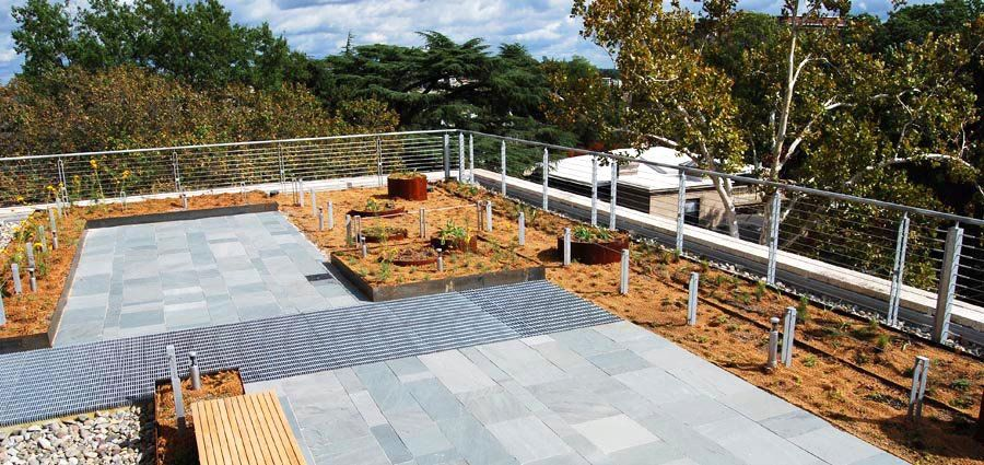 Custom Corten Steel Edge Restraint By Green Roof Solutions. Project  Installed By Capitol Green Roofs