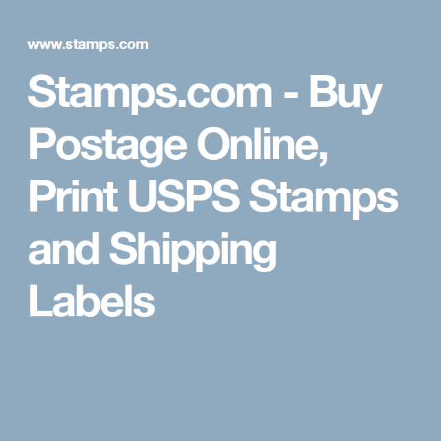 Buy Postage Online, Print USPS Stamps And
