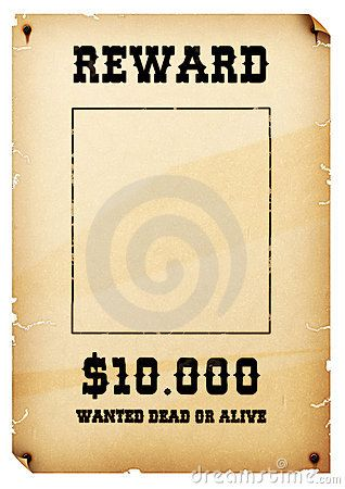 Free Old Western Wanted Posters | Free Download Old West Wanted Poster  Template Free  Printable Wanted Posters