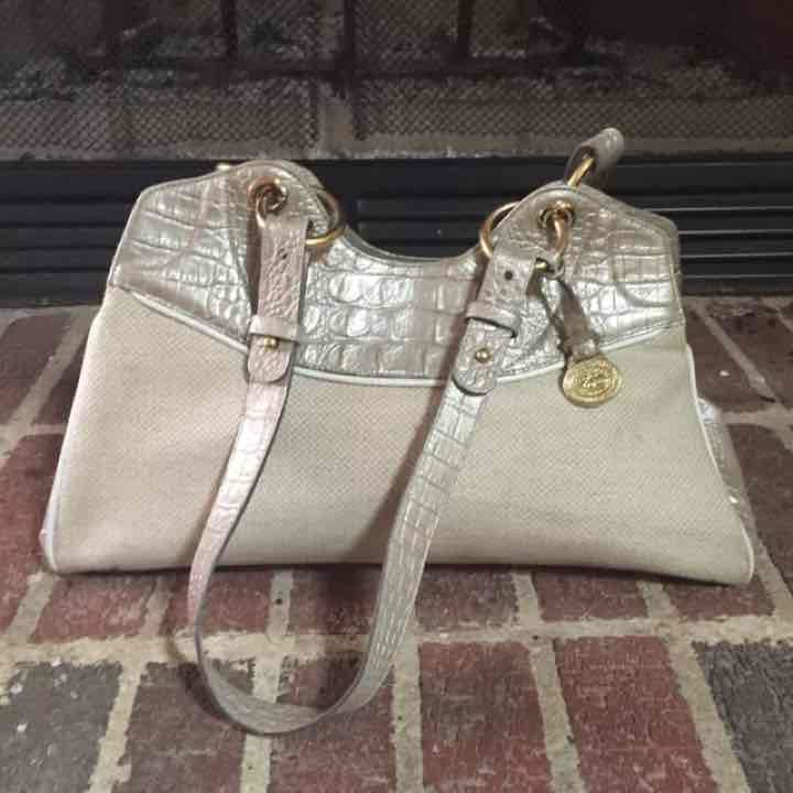 Authentic BRAHMIN Purse!  Gold & Tan. - Mercari: Anyone can buy & sell