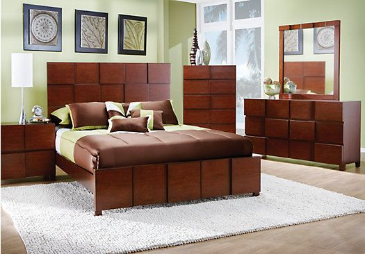 Roxanne Cherry King Rooms To Go Queen Bedroom Setsking