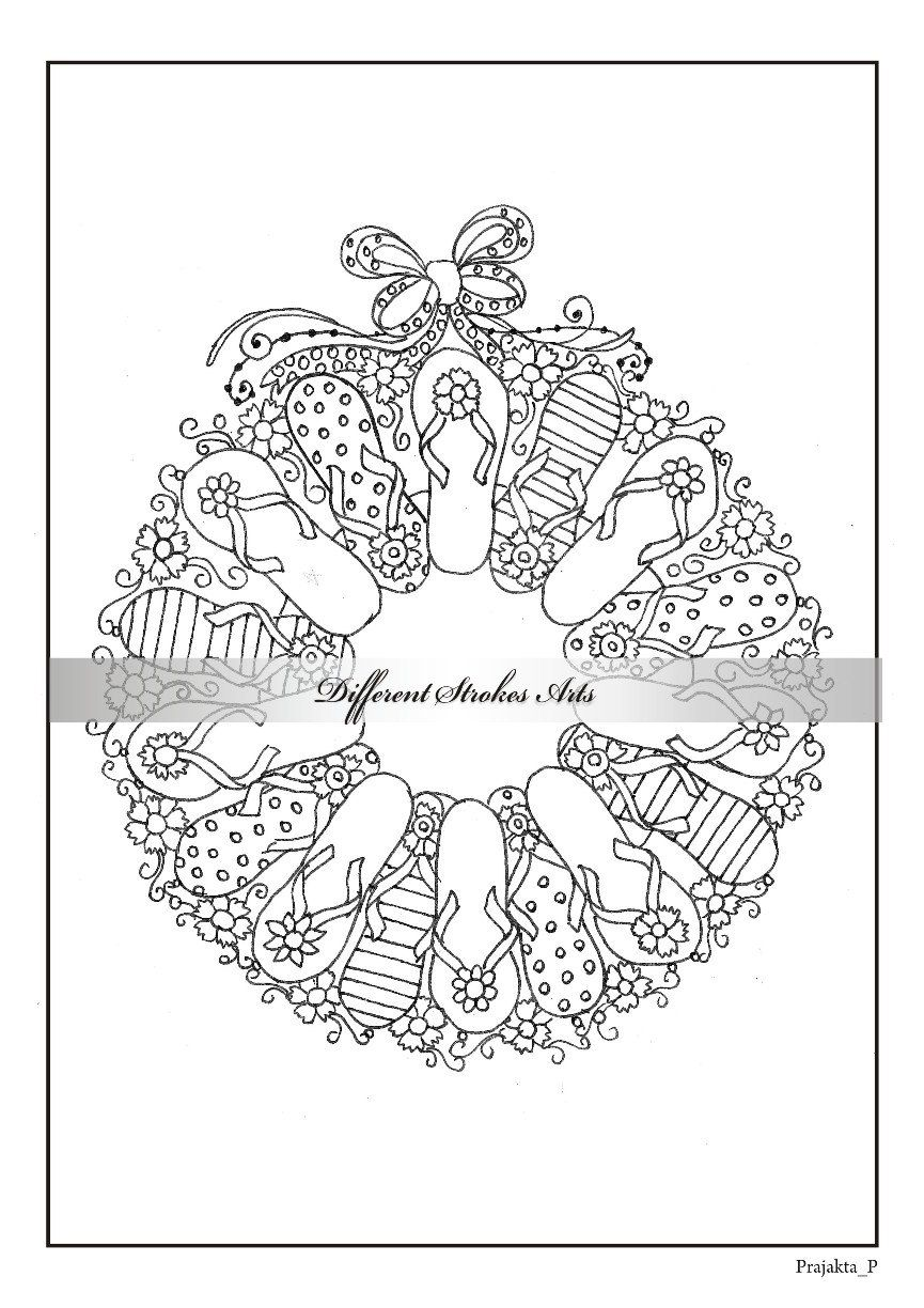adult Christmas coloring book printable by DifferentStrokesArts ...