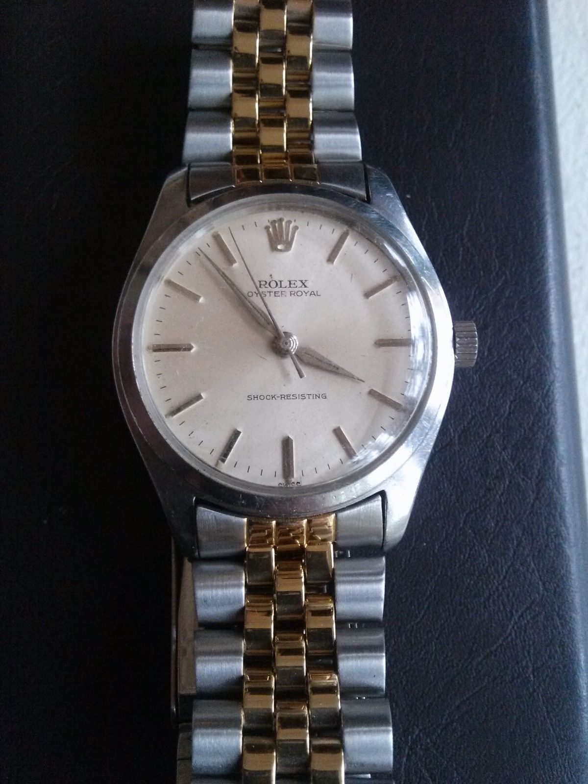 ROLEX OYSTER ROYAL AUTOMATIC WATCH REF 6444 WINDING SHOCK-RESISTING  TWO BANDS! https://t.co/HFthQEtEa9 https://t.co/rwgXrpEl9d