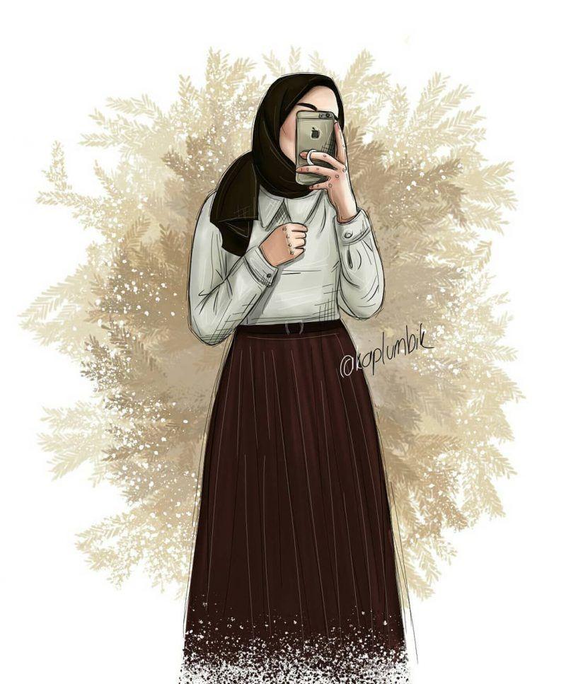 √215+ Gambar Kartun Muslimah Cantik, Lucu dan Bercadar HD