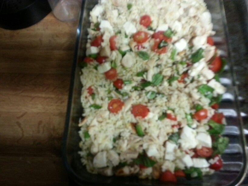 Deli roasted chicken risotto