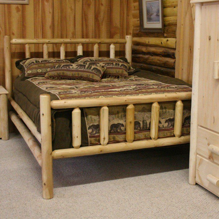 Lakeland Frontier Log Bed Quick Ship Special Log Bed Rustic
