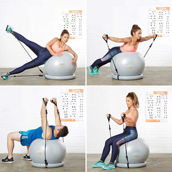 75cm Yoga Pilates Ball /& Stability Base for 55cm 65cm Exercise Ball Chair