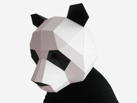 Panda Mask Diy Printable Animal Head Instant Pdf