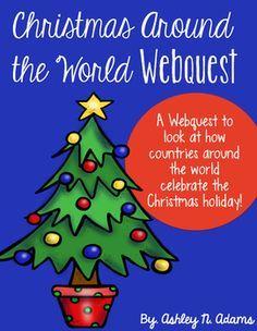 Christmas Around the World Webquest FREEBIE | Christmas classroom ...