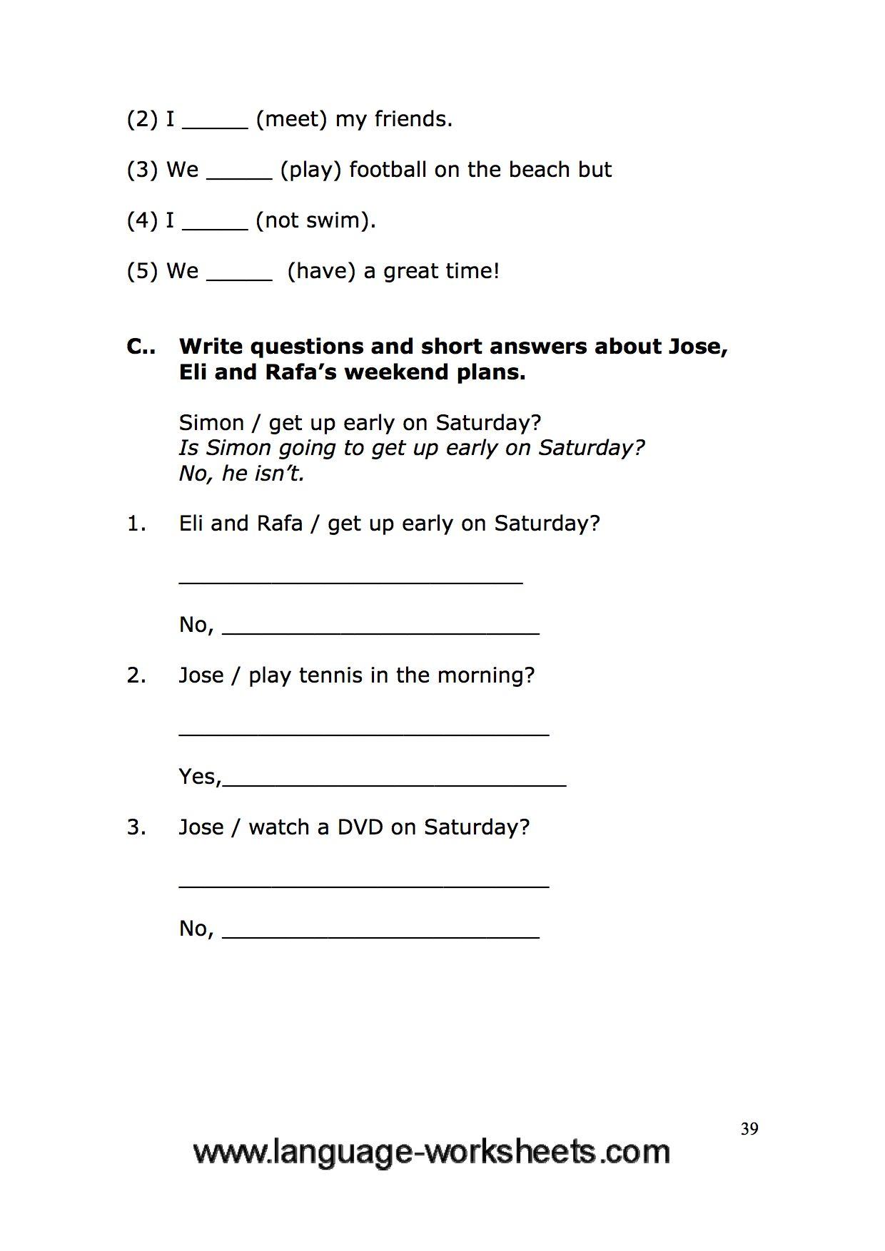 Grammar Worksheets 39