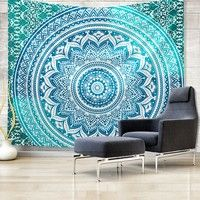 Boho Indian Mandala Tapestry Wall Hanging Multifunctional Tapestry Boho Printed Bedspread Cover Yoga Mat Blanket Picnic Cloth Carpets & Rugs