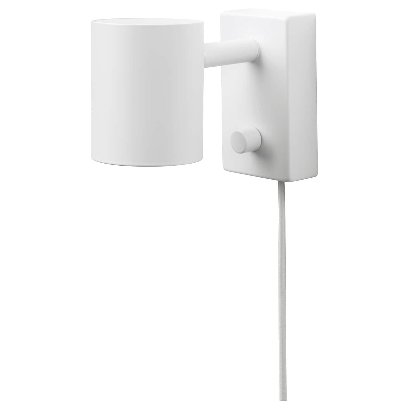 NYMÅNE Wallreading lamp with LED bulb, white IKEA in 2020