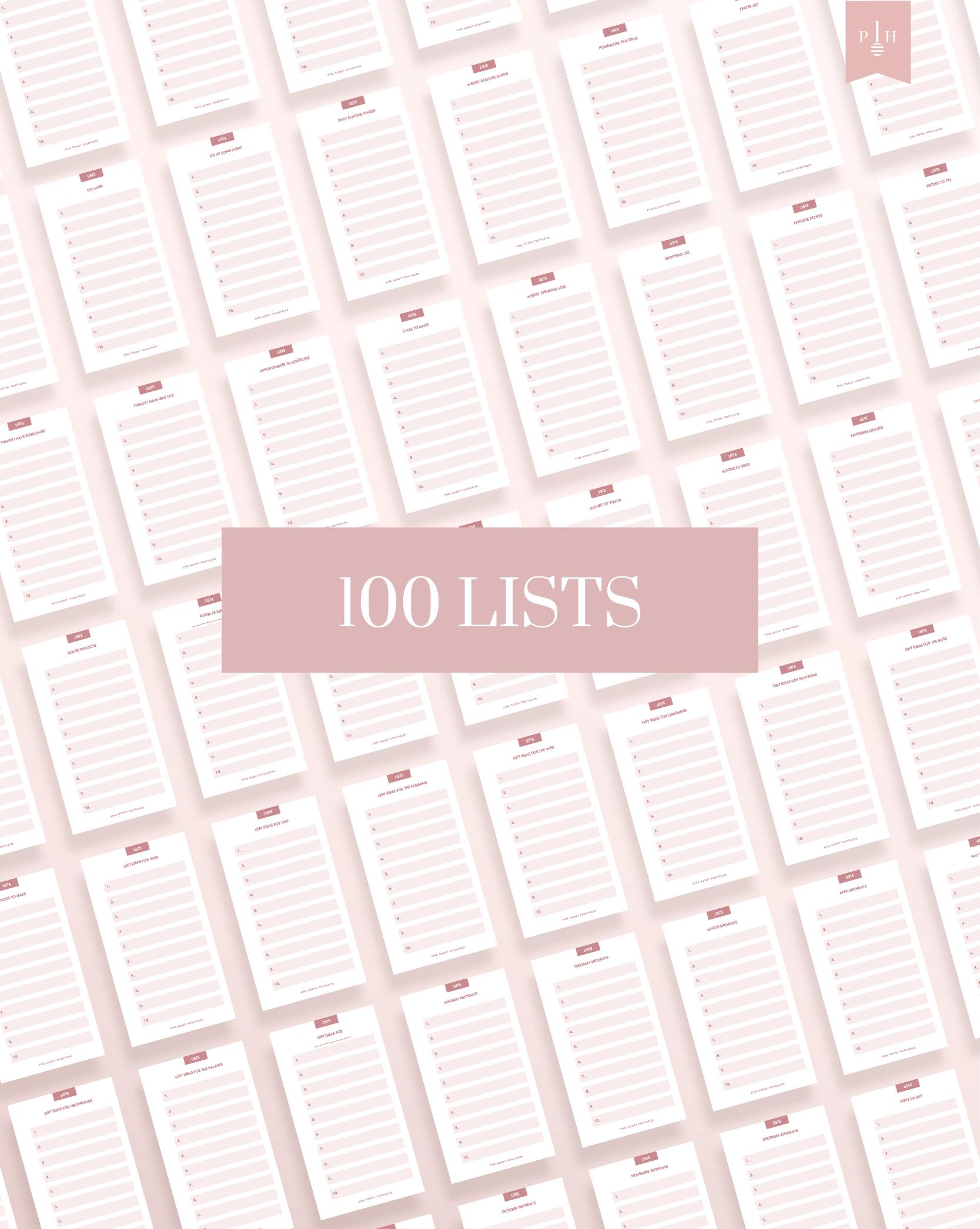 printable checklist planner refill printable to do list checklist