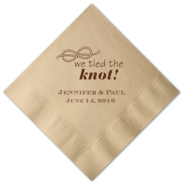 We Tied The Knot Personalized Cocktail Napkins