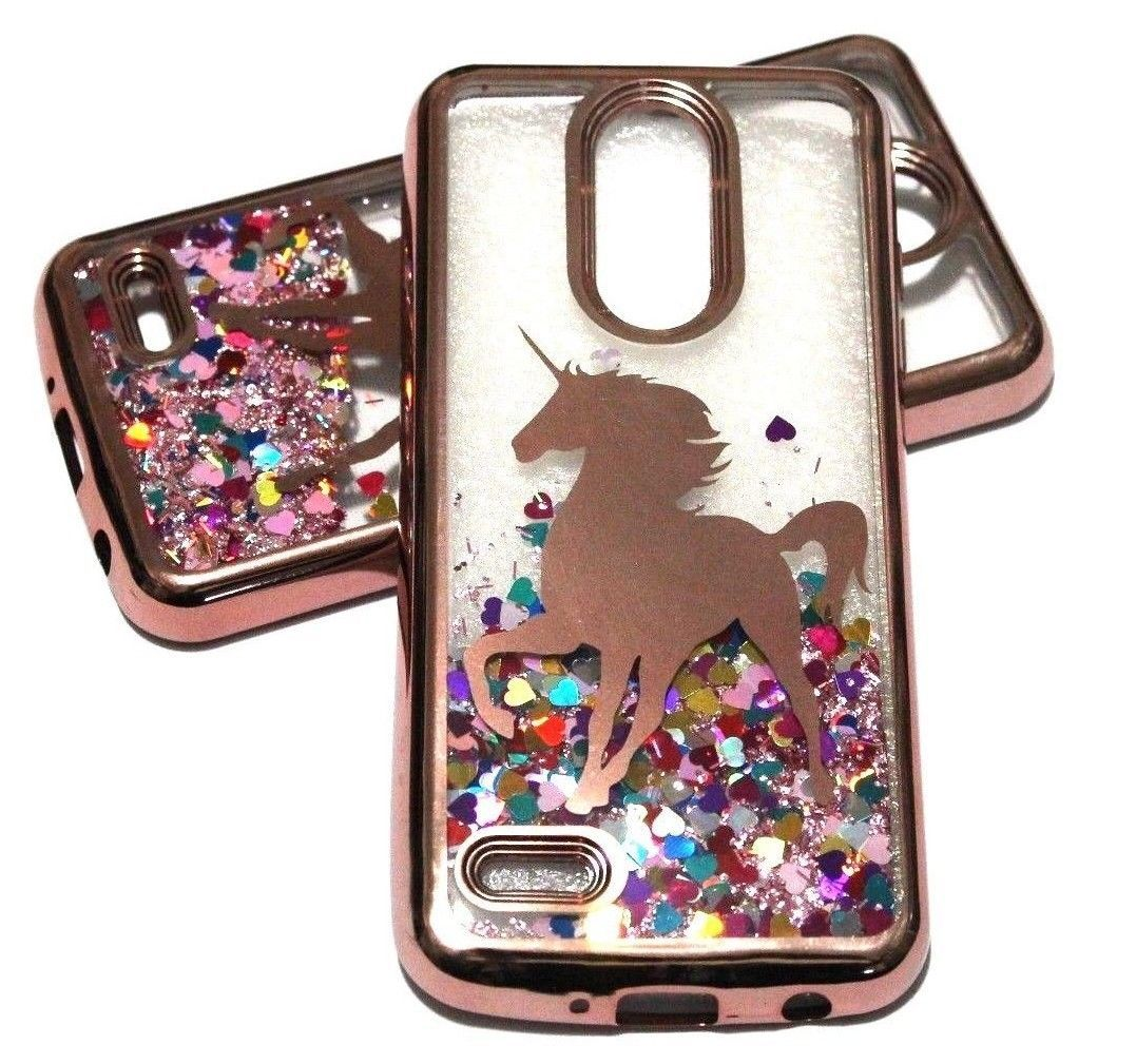 huge selection of 4629f 8364d Details about For LG Aristo 2 X210 / K8 2018 Rose Gold Unicorn ...