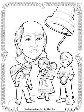 Dibujos para colorear independencia de Mxico  Viva Mxico