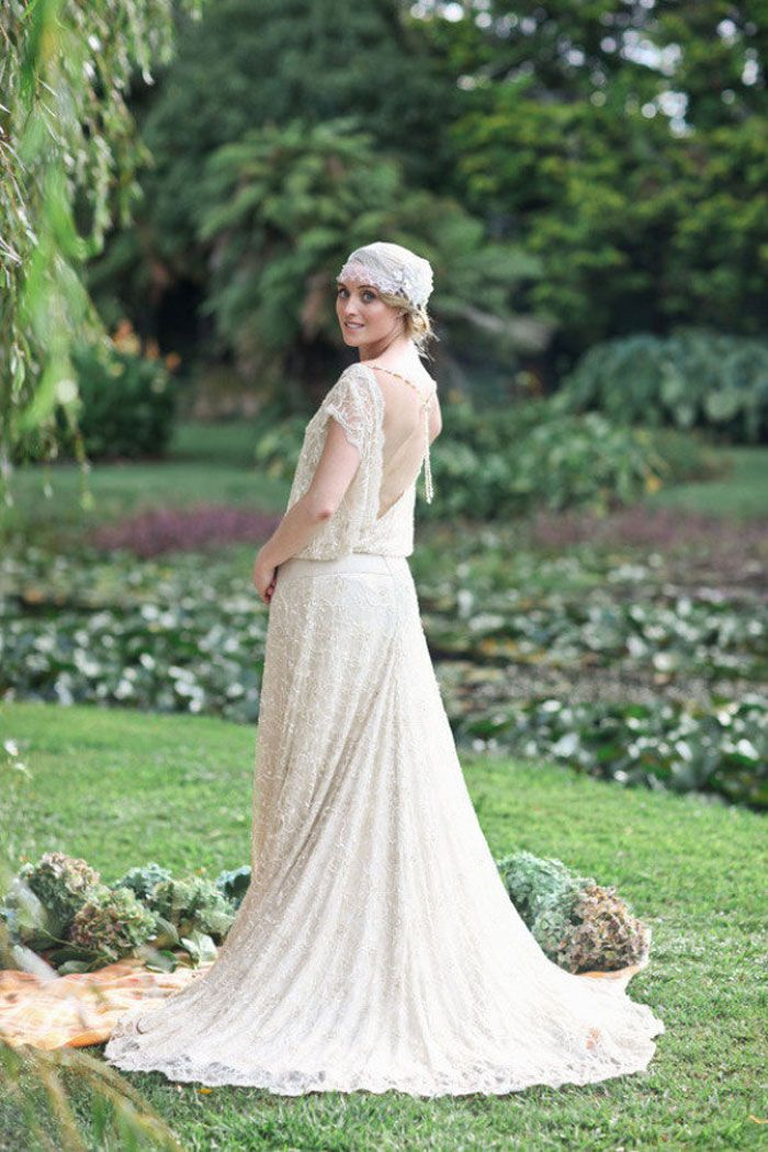 Vintage Inspired Wedding Dress | fabmood.com #vintageweddingdress
