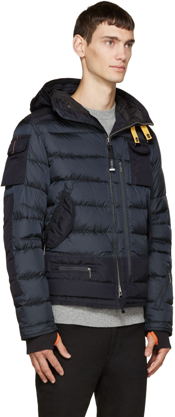 Parajumpers Navy Down & Fur Third Skimaster Coat