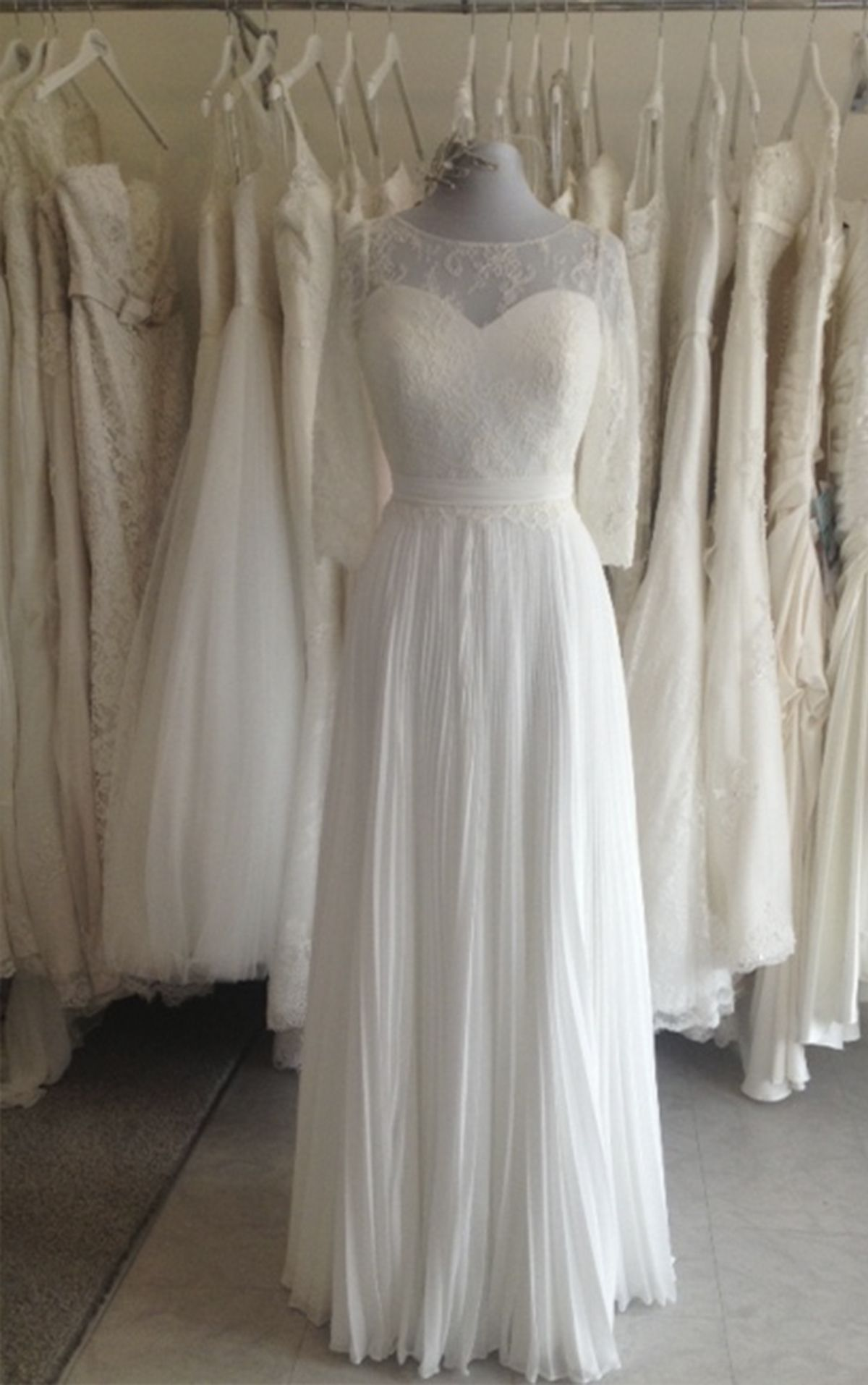 White Rose R836 Briony Wedding Dress Our Sample With Long Lace Sleeves