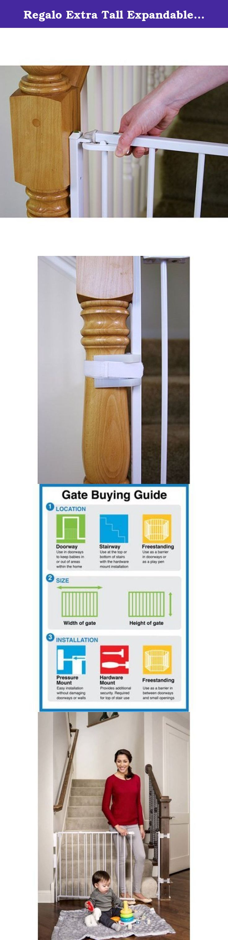 Regalo Extra Tall Expandable Top Of Stairs Baby Gate, Includes Mounting  Kit. The Regalo