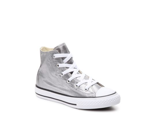 00819652c300 Women s Converse Chuck Taylor All Star Metallic Girls Toddler   Youth  High-Top - Pewter Metallic