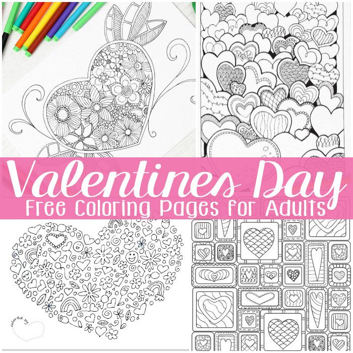 Free Valentines Day Coloring Pages for Adults | Free printable ...