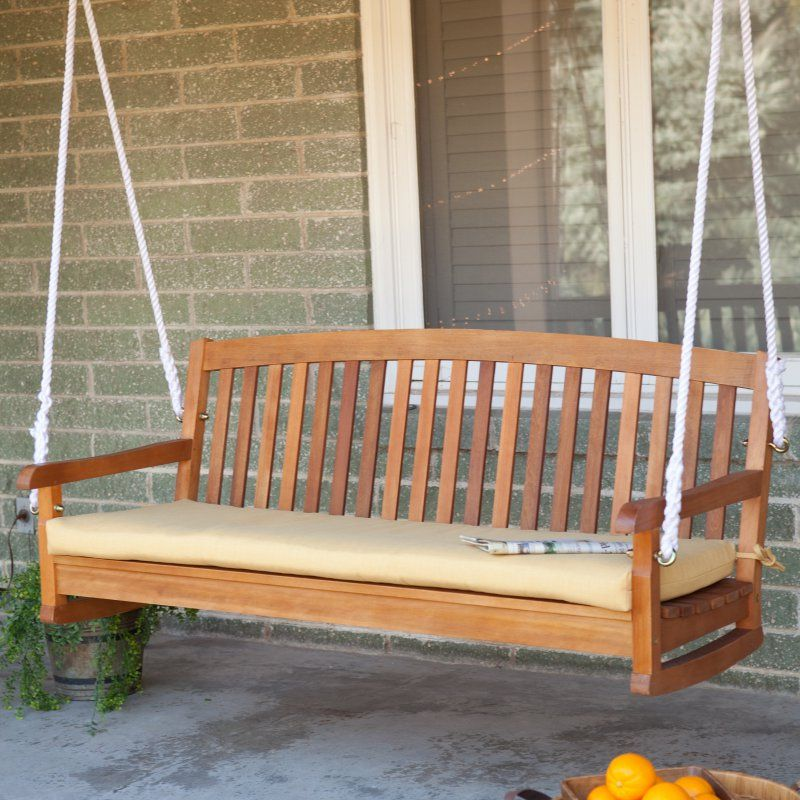 Blazing Needles Outdoor Standard Patio Bench Cushion - 56 x 18 in. Lemon - 93450-LV-56W-SOLREO-S3-LE-