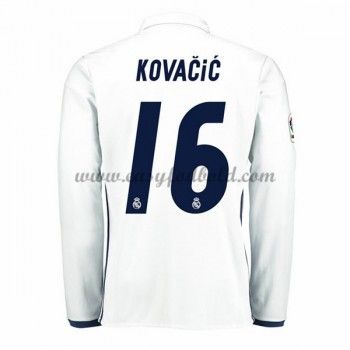 Fodboldtrøjer La Liga Real Madrid 2016-17 Kovacic 16 Hjemmetrøje Langærmede