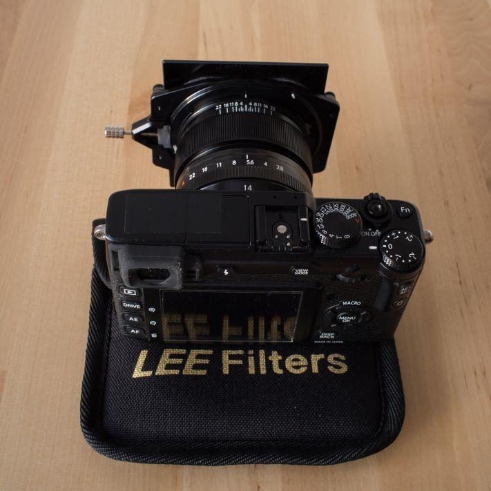 Fuji 14mm lens, Lee Big Stopper and soft ND filter kit | LEE