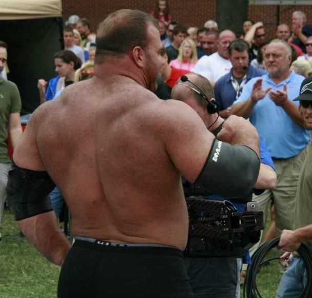 Back Of Derek Poundstone, Strongman