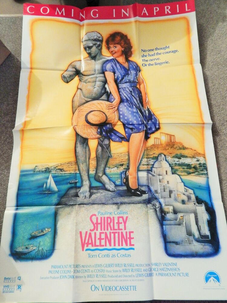 Shirley Valentine Video Dealer 40 X 27 Poster 1990s Pauline Collins Tom Con With Images Shirley Valentine Tom Conti Pauline Collins