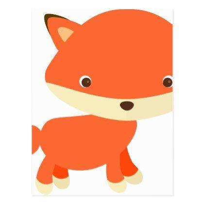 cute baby animal fun joy happy beautiful postcard postcard post rh pinterest com  cute fox clipart black and white