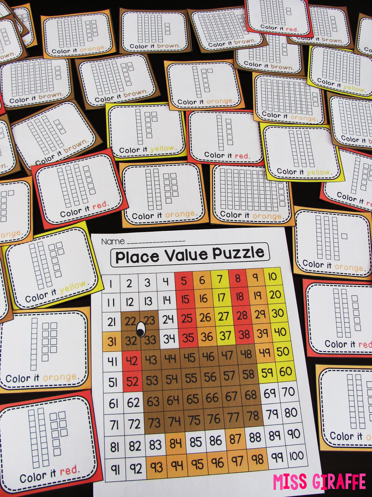 Place Value Puzzle That Reveals A Turkey Perfect For