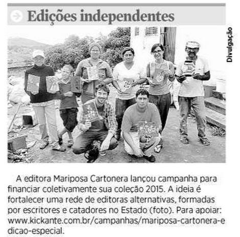 Blog de Mariposa Cartonera: Edição Especial   Kickante