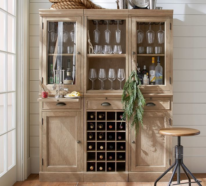 A Stylish Alternative To Built In Cabinetry, The Modular Bar Suite  Organizes, Stores And Displays Entertaining Essentials. HOW ITu0027S CONSTRUCTED