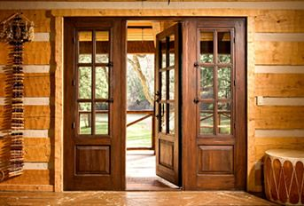 Santa Fe Style Doors For Sun Room To Back Patio