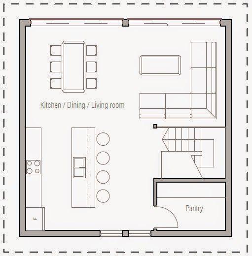Planos de casa 3 pisos moderna peque a ideas para el for Distribucion de oficinas pequenas
