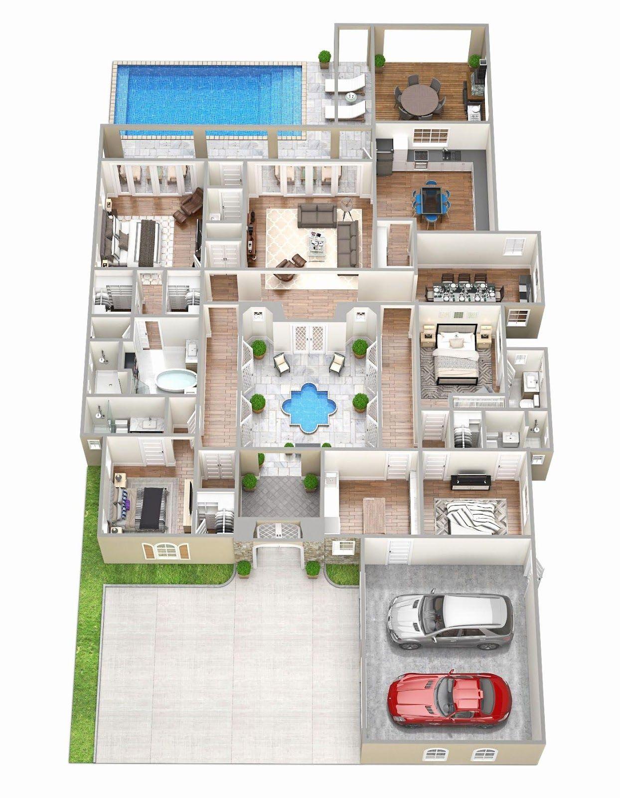 Desain Rumah The Sims 4 : desain, rumah, Denah, Rumah, Minimalis, Lantai, Dengan, Kolam, Renang, Terbaru, Koleksi, Gambar, Terlengkap, Rumah,, Desain, Mewah