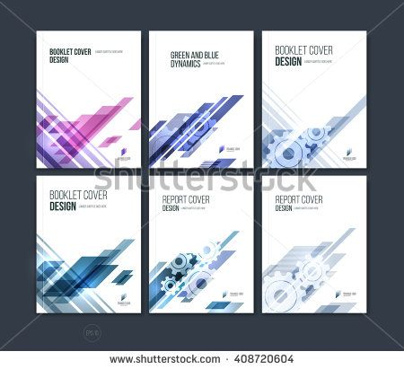 Set of abstract cover design, business brochure template layout - blank brochure templates