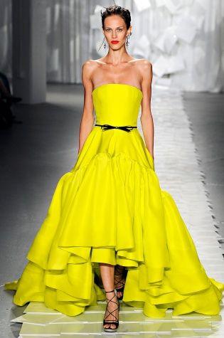 Jason Wu Spring 2012   Yellow Silk cocktail dress